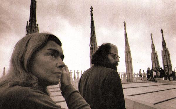 Fernanda Pivano e Allen Ginsberg