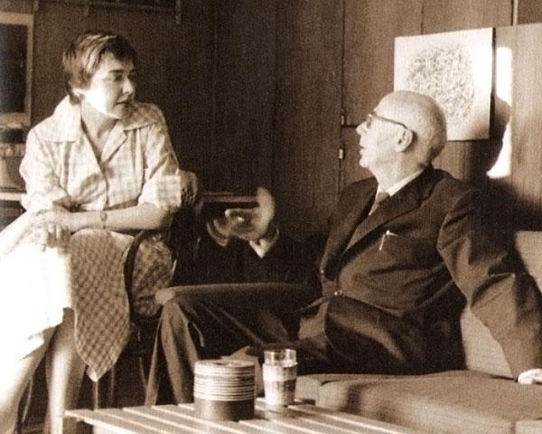Fernanda Pivano con Henry Miller