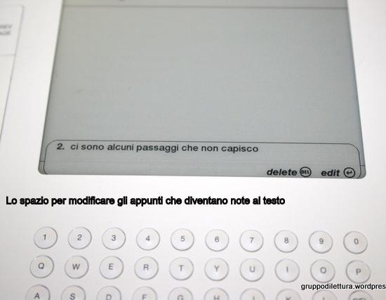 Modificare una nota al testo