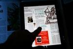 In verticale, una sola pagina del giornale