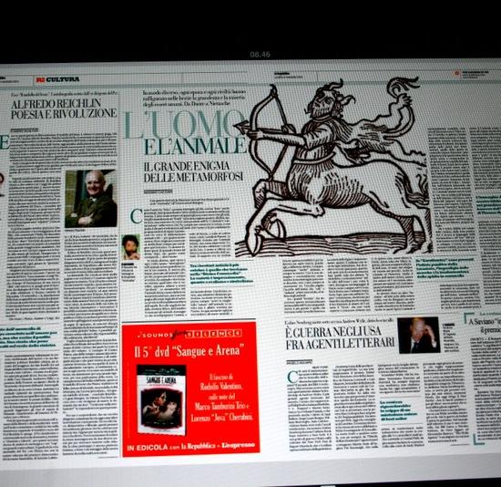 Le pagine culturali di La Repubblica