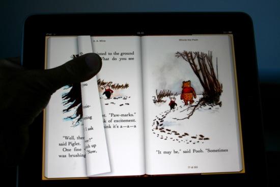Winnie the Pooh: la qualità del display vslorizza le illustrazioni
