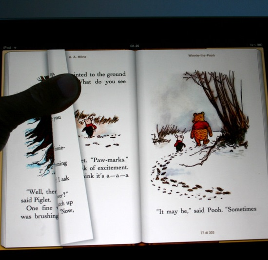 Winnie the Pooh: la qualità del display vslorizza le illustrazioni