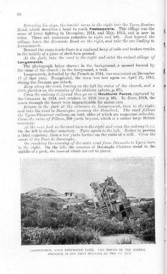 In questa pagina, la foto ritrare un carroarmato ribaltato nel campo