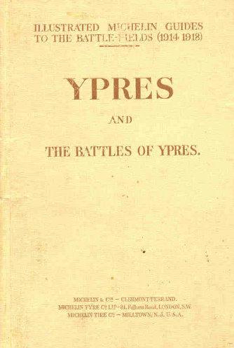 La copertina della Guida Michelin ai campi di battaglia di Ypres, il volume è del 1919