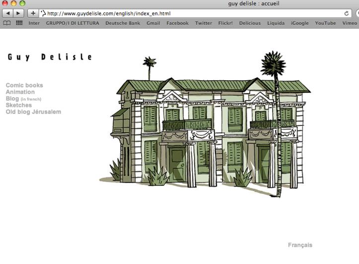 La Home Page del sito di Guy Delisle