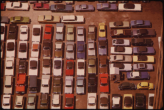 Documerica, Downtown Parking Lot 08/1973