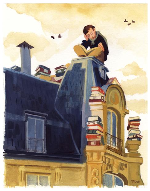 """Manuel Fior - illustrazione per """"Una certa idea del mondo"""""""