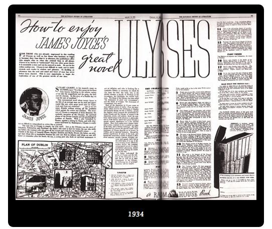 James Joyce, Ulysses, una pubblicità del 1934