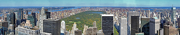 Manhattan, dal Rockefeller Center, New York