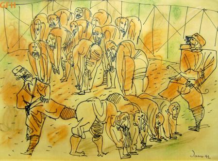 Marcel Janco, Abuse, 1943