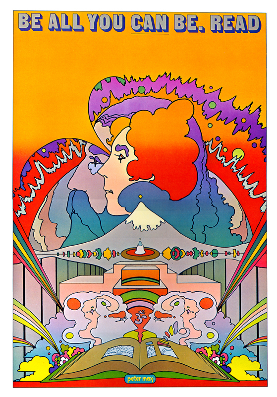 """Be all you can be. Read"" di Peter Max"