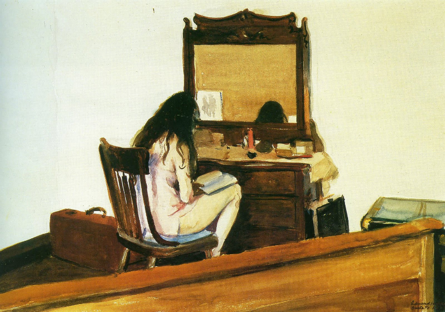 Edward Hopper, Interior (Model Reading), 1925