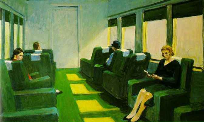 Edward Hopper, Chair Car, 1965