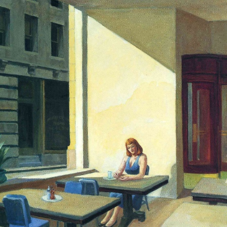edward hopper, sunlights in a cafeteria