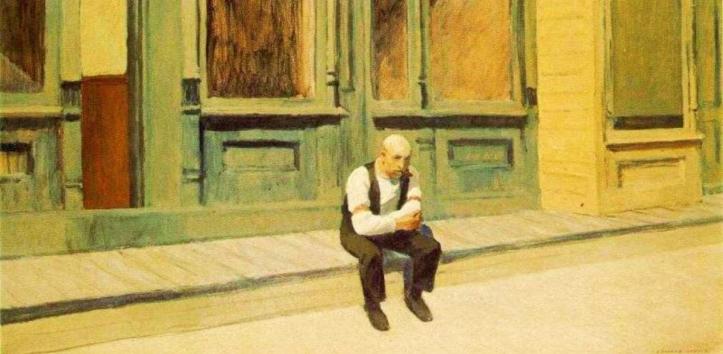 Edward Hopper, Sunday, 1926, particolare