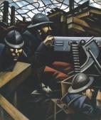 La Mitrailleuse, 1915. Christopher Richard Wynne Nevinson 1889–1946 Olio su tela. Tate Modern