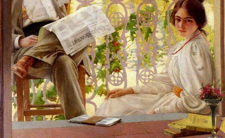 Vittorio Matteo Corcos - Pomeriggio in terrazza (1859-1933)
