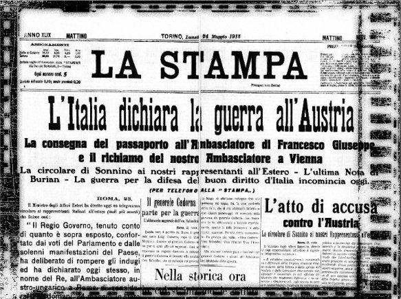 L'Italia nella prima guerra mondiale, preludio delfascismo