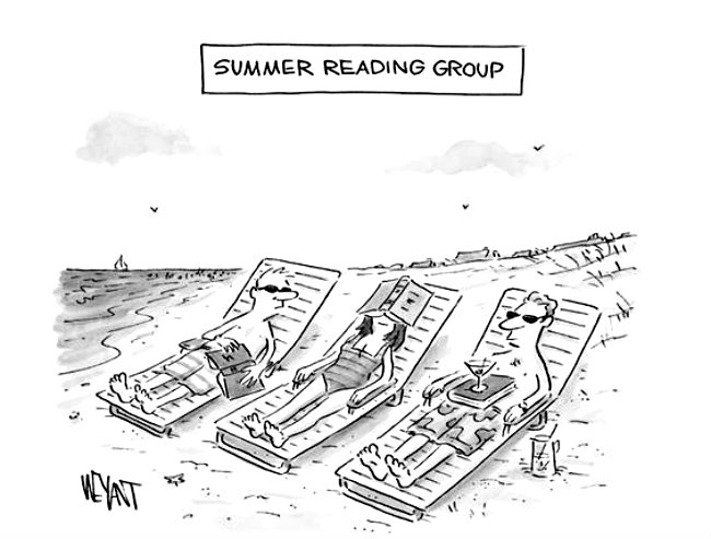 """Summer reading group,"" Uno dei cartoon del New Yorker, June 8 & 15, 2015"