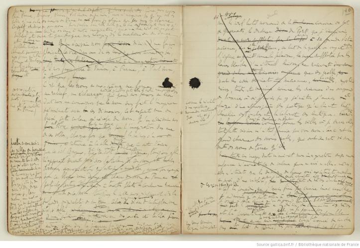 Due pagine del manoscritto della Recherche du temps perdu