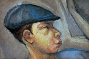 Lajos Tihanyi, Autoritratto con berretto (1910)
