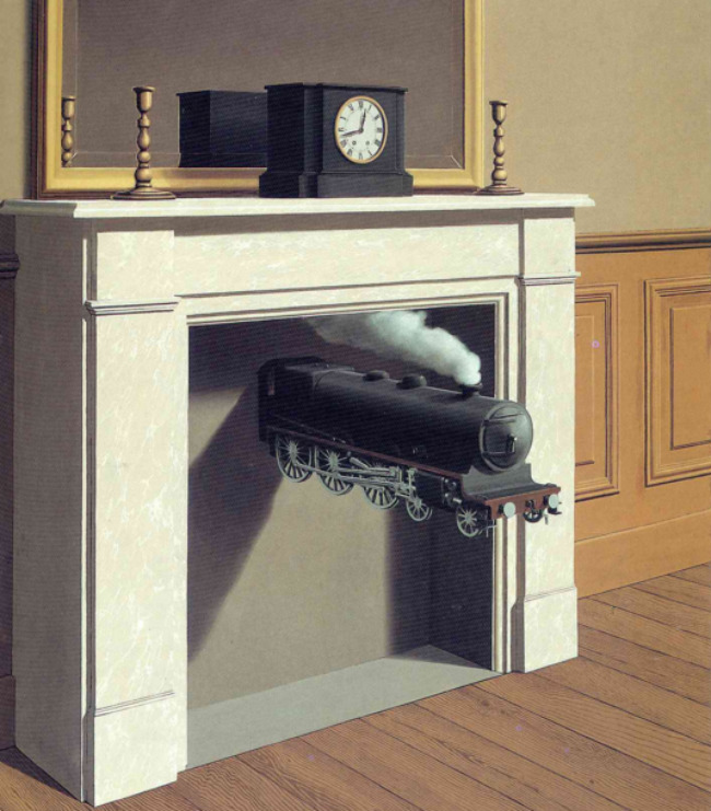 Time transfixed, Rene Magritte · 1938