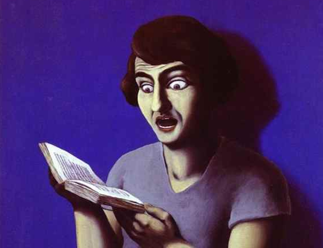Rene Magritte, La Lectrice Soumise 1928 (wikiart.org)