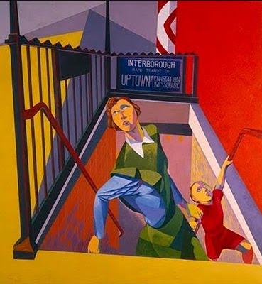 O. Louis Guglielmi, Subway Exit, 1946