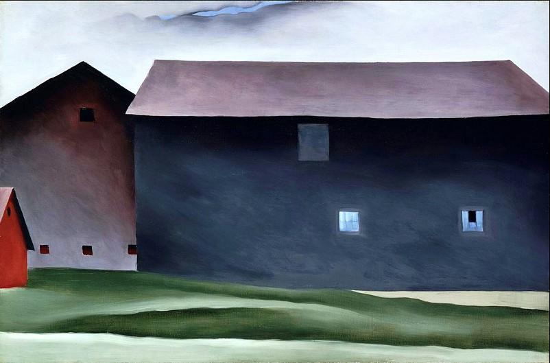 Georgia O'Keeffe, Lake George Barns, 1926