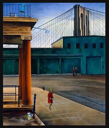 O. Louis Guglielmi, South Street Stoop· 1935