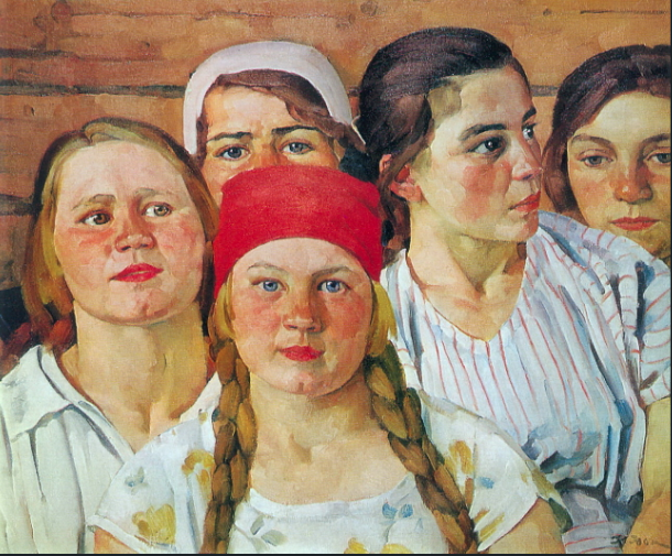 Konstantin Yuon Podmoskovnaya youth. Ligachevo (1926) Fair Use, WikiArt