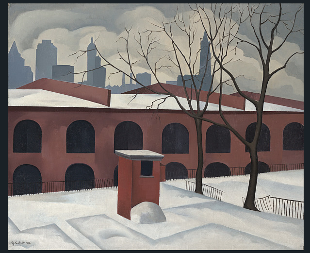 George Ault, View from Brooklyn (1927)