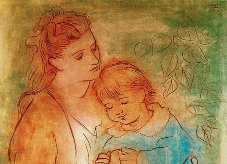 Pablo Picasso, Mere et enfant, 1922 (Wikiart)
