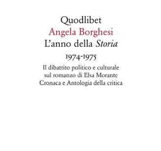 Angela Borghesi, L'anno della Storia (Quodlibet) copertina