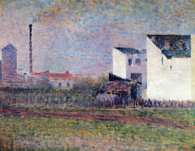 Georges Seurat, Suburb, 1881-1882 - (Wikiart)