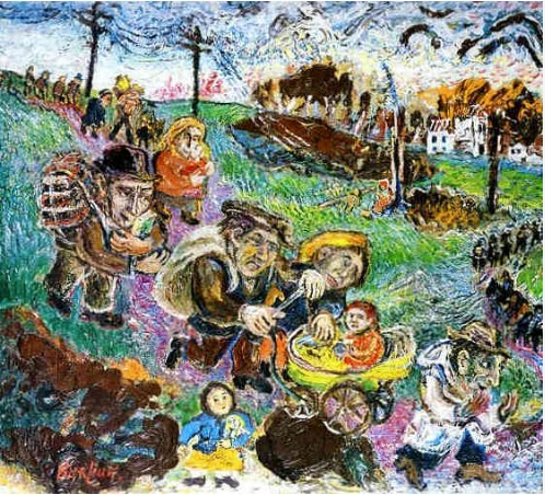 Refugees (The Horrors of the War) David Burliuk - WikiArt