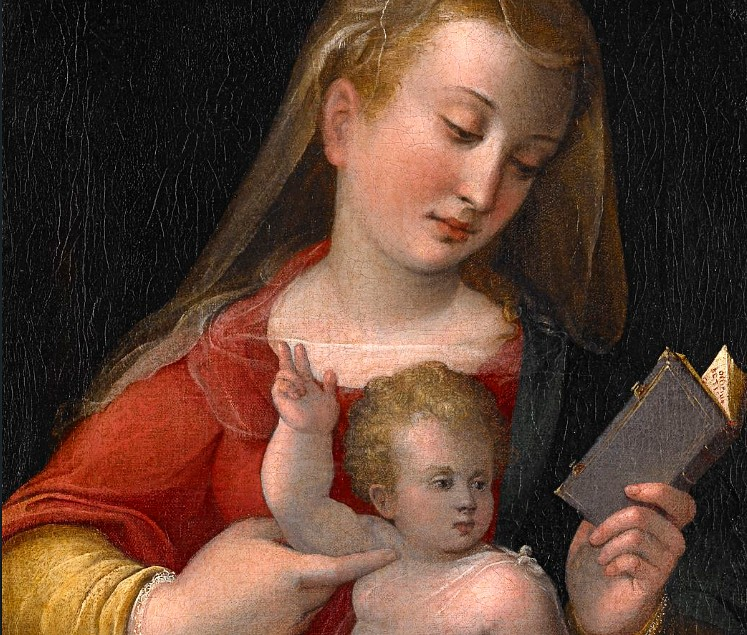 Barbara Longhi, Madonna con bambino, 1585 (Wikiart)