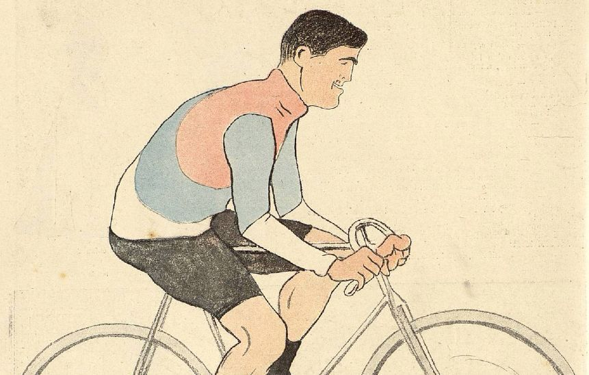 "Caricature by Cappiello of Cyclist Jacquemin Published in ""le Rire"" Leonetto Cappiello"
