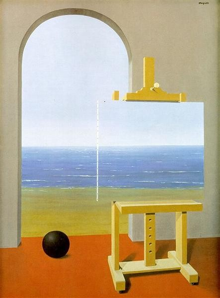 Rene Magritte, La Condizione umana, 1935 (Wikiart)